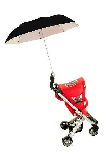 Height Adjustable Buggy Brolly - Black