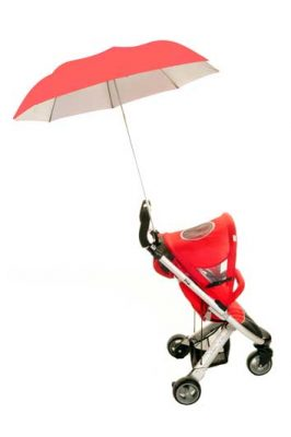 Height Adjustable Buggy Brolly - Coral