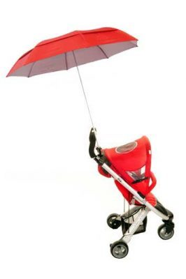 NEW VENTED Height Adjustable Buggy Brolly - Red