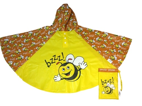 Children's Bee Rain Poncho