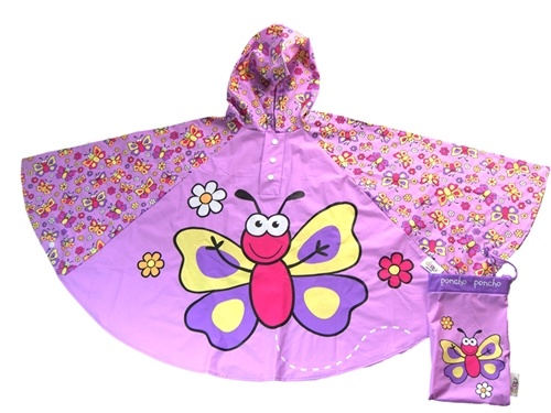 Children's Butterfly Rain Poncho