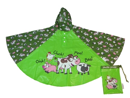 Children's Farmyard Rain Poncho