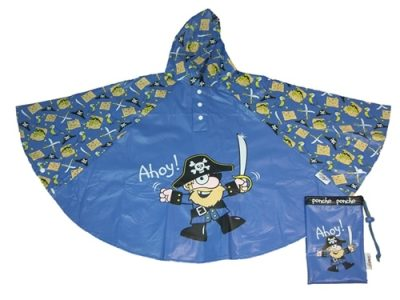 pirate rain poncho