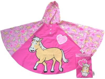 children's rain pony poncho