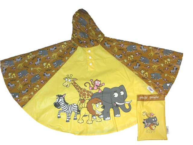 Children's Safari Rain Poncho