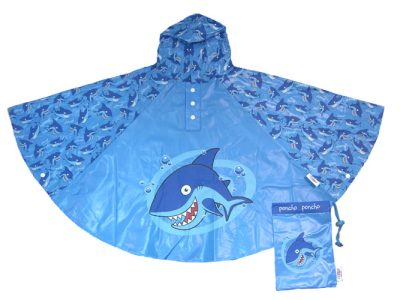 Children's Shark Rain Poncho